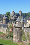 Fougeres Castle Royalty Free Stock Photo