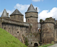 Fougeres fortress. Medieval castle and fortress in Fougeres Stock Photo