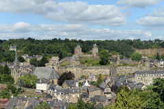 Fougeres and Fougeres castle Royalty Free Stock Images