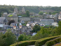 Fougeres, France. Medieval town of Fougeres, Ile-et-Vilaine, in France Stock Images