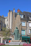 Fougeres, France. Statue in a square in Fougeres Stock Photos