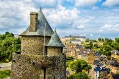 Fougeres, Frankrijk royalty-vrije stock fotografie