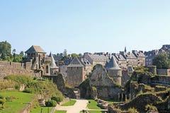 Fougeres kasztel, Francja Zdjęcie Stock
