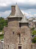 Fougeres-Schloss Stockfotos