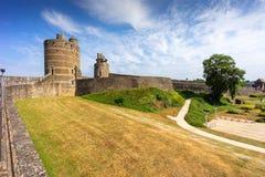 Fougeres-Schloss in Bretagne stockbilder