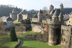 Fougeres slott Arkivbild