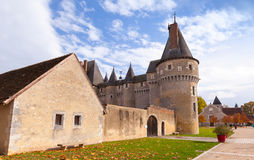 Fougeres-sur-Bievre, French castle Royalty Free Stock Photo