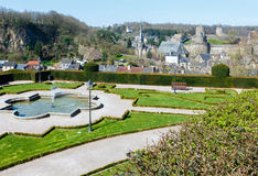 Fougeres town (France) spring view. Royalty Free Stock Photography