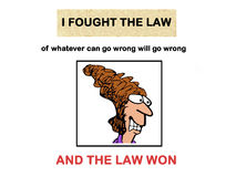 Fought the Law Royalty Free Stock Photos