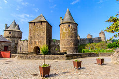 Fougères, Brittany, France. Royalty Free Stock Photos