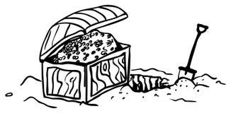 Fouille de coffre au trésor illustration stock
