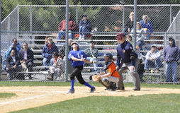 Free Foul Ball At A Little League Baseball Game Royalty Free Stock Image - 30524166
