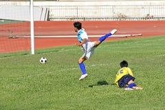 Foul do futebol Fotografia de Stock