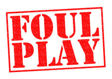 FOUL PLAY Royalty Free Stock Photo