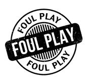 Foul Play rubber stamp. Grunge design with dust scratches. Effects can be easily removed for a clean, crisp look. Color is easily changed Royalty Free Stock Photo