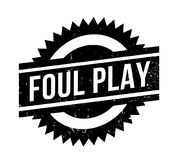 Foul Play rubber stamp. Grunge design with dust scratches. Effects can be easily removed for a clean, crisp look. Color is easily changed Royalty Free Stock Image