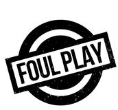 Foul Play rubber stamp. Grunge design with dust scratches. Effects can be easily removed for a clean, crisp look. Color is easily changed Royalty Free Stock Images