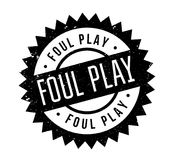 Foul Play rubber stamp. Grunge design with dust scratches. Effects can be easily removed for a clean, crisp look. Color is easily changed Stock Photos