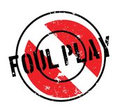Foul Play rubber stamp Stock Image