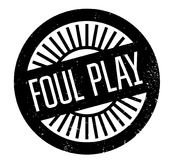 Foul Play rubber stamp Stock Photography