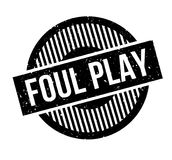 Foul Play rubber stamp Stock Photo