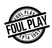Foul Play rubber stamp Royalty Free Stock Images