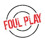 Foul Play rubber stamp Royalty Free Stock Photos
