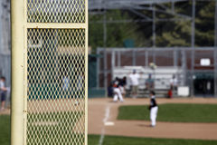 Foul Pole. A baseball game from the right field foul pole Royalty Free Stock Image