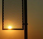 Foul Pole Sunset Stock Images