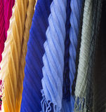 Foulard. Colored foulard in a shop Royalty Free Stock Image