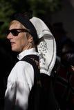 Foulard ricamato tradizionale indossato il giorno norvegese di costituzione, festa nazionale Immagine Stock