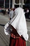 Foulard ricamato tradizionale indossato il giorno norvegese di costituzione, festa nazionale Fotografia Stock