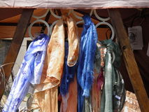 Foulards of different colours Royalty Free Stock Photography