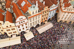 Foule à Prague Photo libre de droits