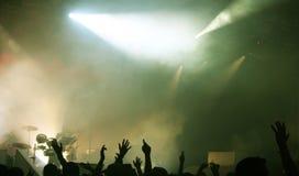 Foule à un concert Photo stock