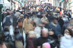 Foule Image stock
