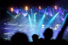 Foule au concert photographie stock