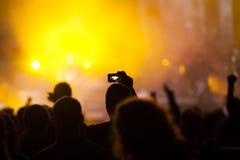 Foule au concert image stock