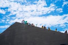 foule brésilienne image libre de droits