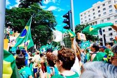 foule brésilienne photos libres de droits
