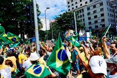 foule brésilienne image stock