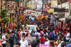 Foule chinoise d'an neuf image libre de droits