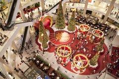 Foule d'achats de Noël Photographie stock