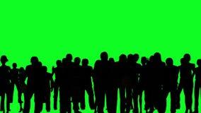Foule d'encourager gai de personnes sur l'écran vert illustration libre de droits