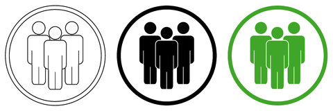 Foule d'icône de personnes Image libre de droits