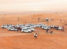 Foule dans le désert Photo stock