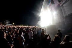 Foule dans un concert au festival de BOBARD Photographie stock