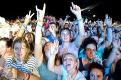 Foule dans un concert au festival de BOBARD Photos libres de droits