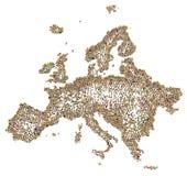 Foule de bande dessinée, l'Europe Image libre de droits
