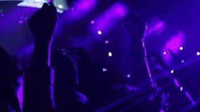 Foule de concert à un festival de roche clips vidéos